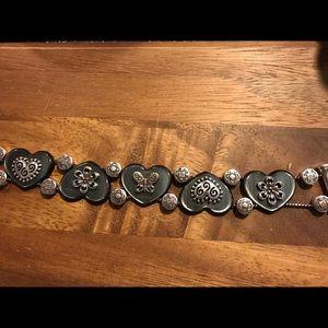 Brighton black heart & butterfly bracelet